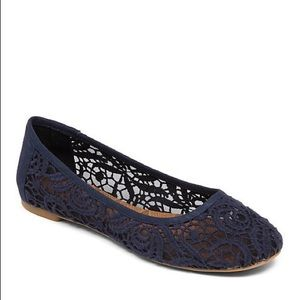 Lucky Brand Black Lace Ballet Flats